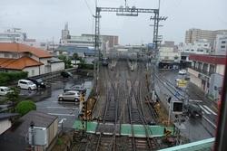 甘木鉄道20160612  小郡駅高架jpg