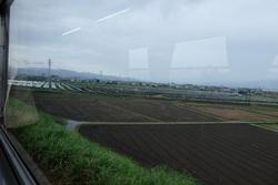 甘木鉄道20160612 太陽光発電と田植え前jpg